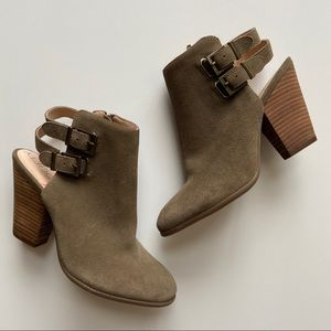 NEW Sole Society suede heeled booties